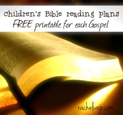 Hooray! We now have a printable Bible reading plan for each Gospel! Originally designed for children, each printable takes 8 weeks or less to read through. Anyone can enjoy this fun way to read!