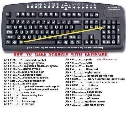 How to make symbols with your keyboard pic.twitter.com/mXU0nWrrwG