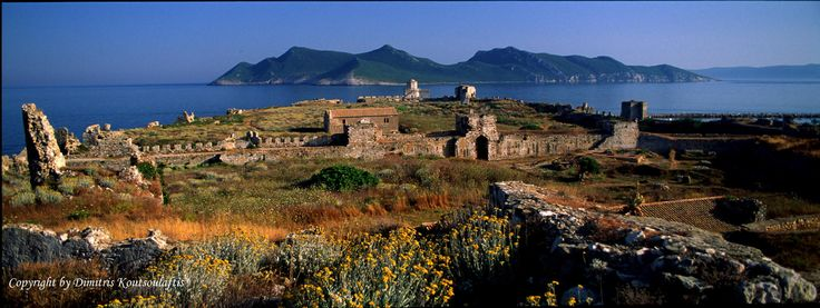 Methoni Castle and Sapientza island, Greece