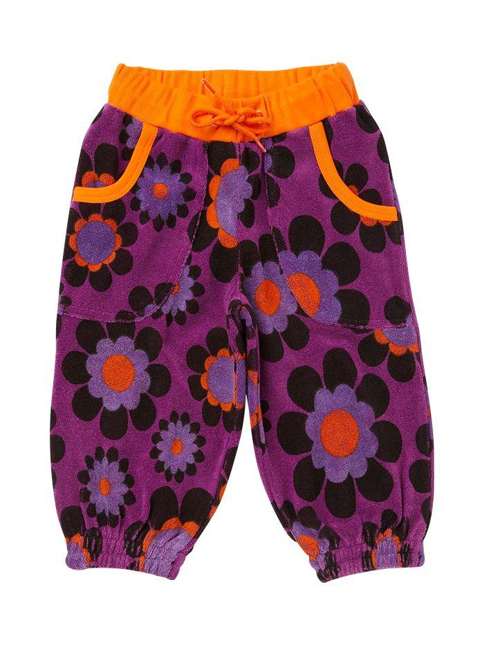 Terry flower pants