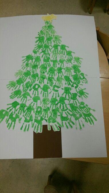 Handabdruck weihnachtsbaum