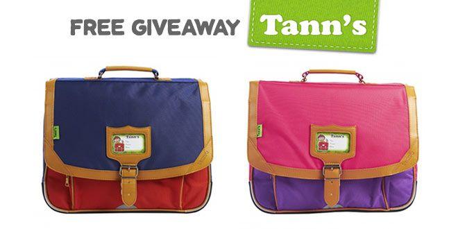 Free Giveaway Tann's : un cartable et un bon d'achat à gagner ! |#tanns