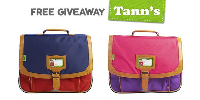 Free Giveaway Tann's : un cartable et un bon d'achat à gagner !  #tanns
