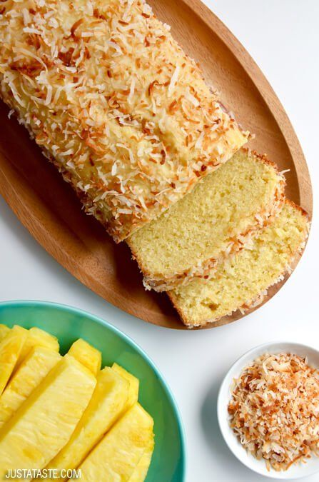 Glazed Pineapple Coconut Bread | Just a Taste | Bloglovin'