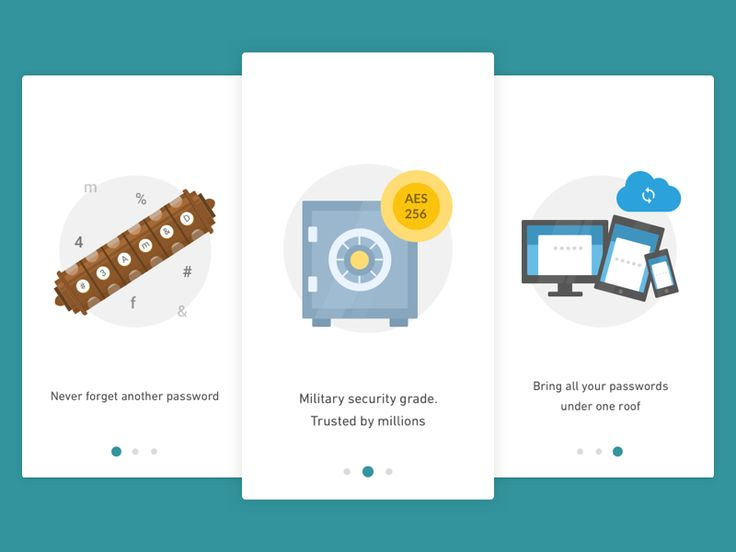Onboarding Screens - Password Manager