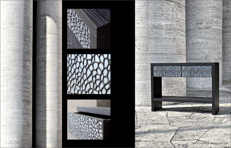 #Fabio #Masotti #art #design #collezione #venti #leather #consolle