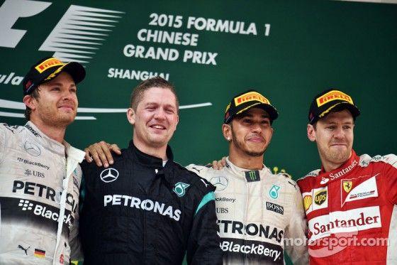 Podium Grand Prix F1 de Chine 2015