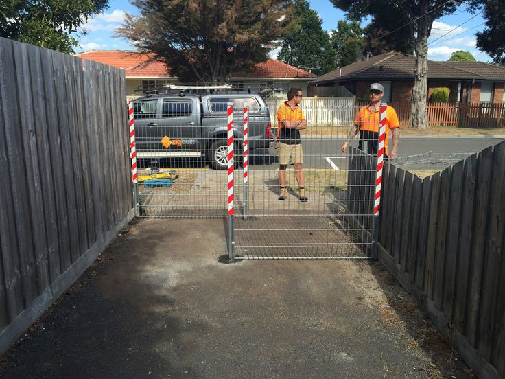 Pedestrian walkway fence by Zigbuilt | There really isn't a lot we can't do at Zigbuilt. We even do small jobs like this pedestrian walkway barrier in Seaford. #BuiltForLife #Builder #WeDoItAll