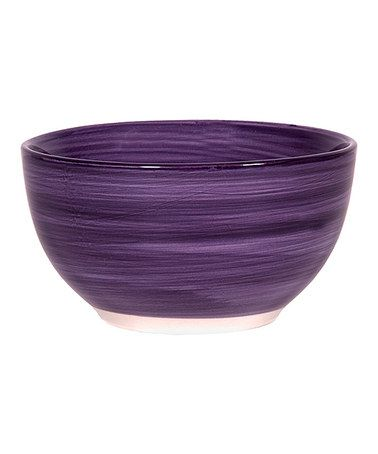 Take a look at this Purple Brush Stroke 5.5'' Soup Bowl - Set of Four by Home Essentials and Beyond on #zulily today!