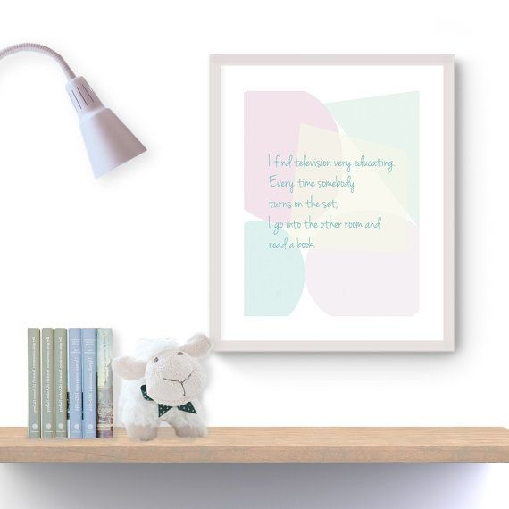 Television Quote, Printable Wall Art, Printable Quote, Motivational Quotes, Instant Download Only, PDF JPG, Home Decoration, Gift Ideas