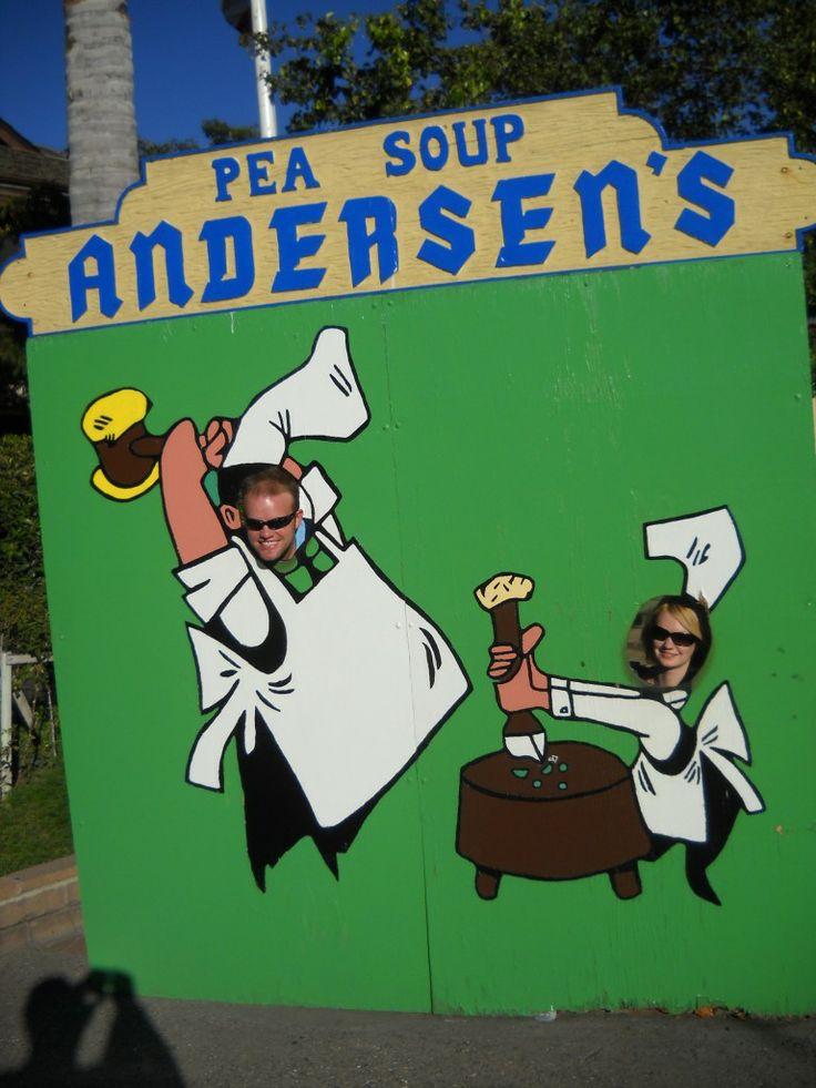 Having fun at the California roadside attraction Pea Soup Andersen's in Buellton CA