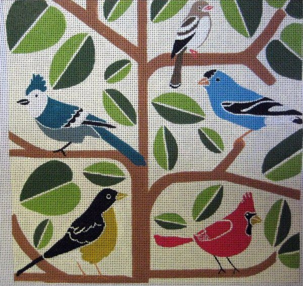 Tips for stitching leaves from Janet Perry.  (birds, copyright Unique NZ Designs)