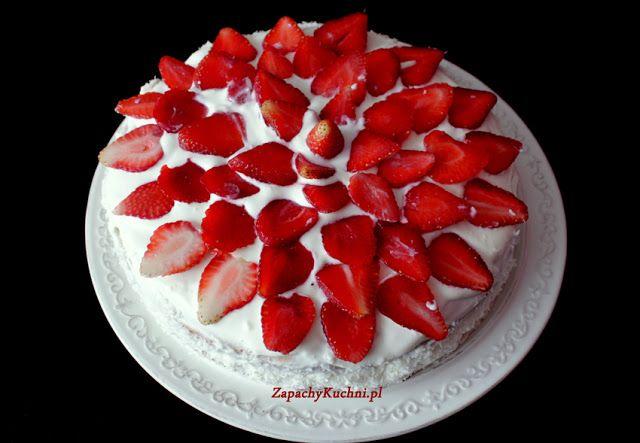 Tort truskawkowo-kremowy | Zapachy Kuchni