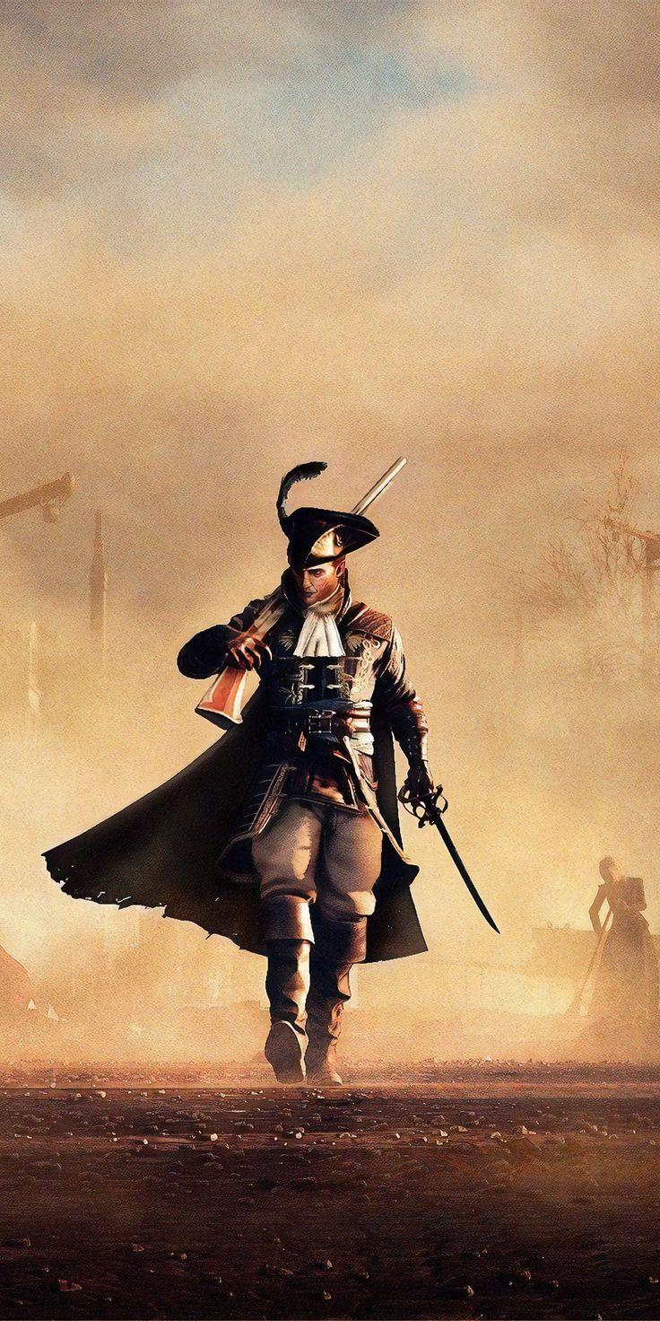 1080x2160 greedfall man walk warrior art wallpaper