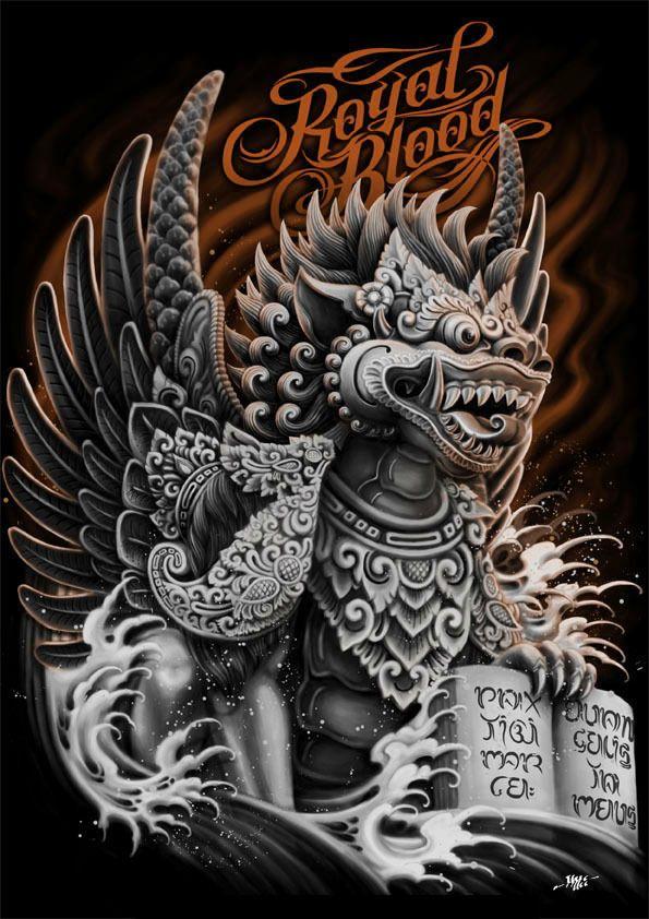 Royal Blood: Singa Ambara by Raka Siwi, via Behance