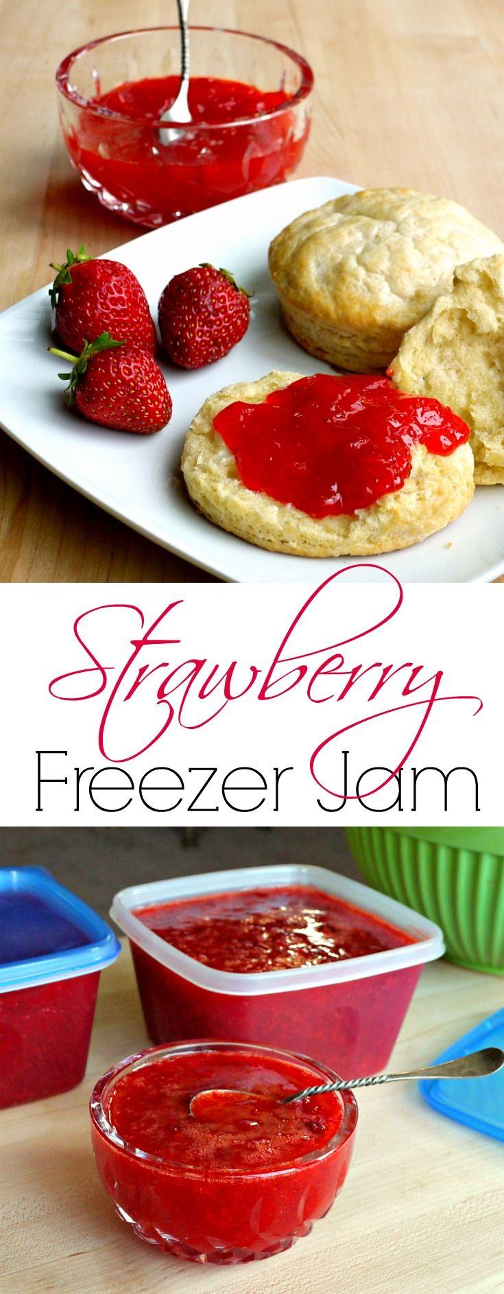 Strawberry Freezer Jam {Tutorial} - Strawberry freezer jam is one of the easiest ways to preserve the fresh taste of summer.