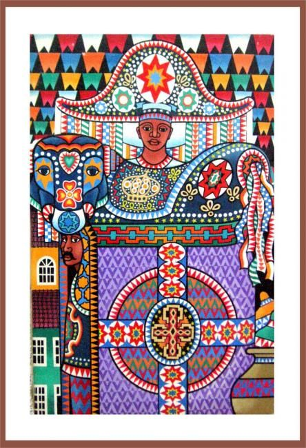 Brazilian folklore - Bumba meu Boi - art by Joao Moraes