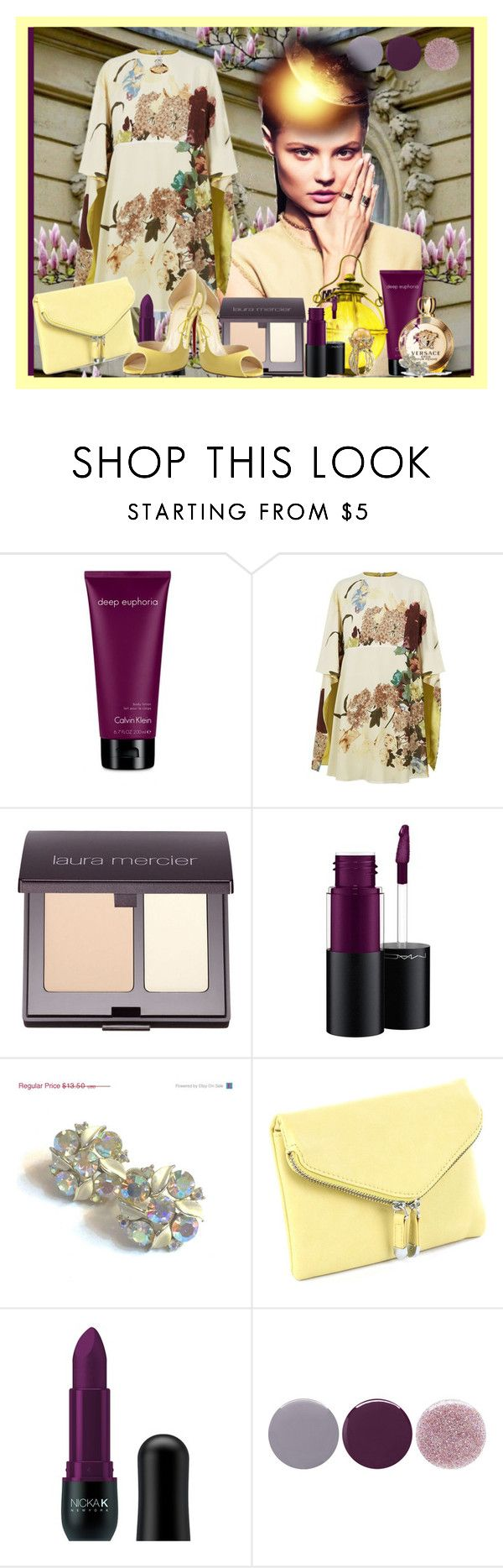 """Untitled 1451"" by ceca-66 ❤ liked on Polyvore featuring Calvin Klein, Versace, Valentino, Laura Mercier, MAC Cosmetics, Nicka K and Smith & Cult"