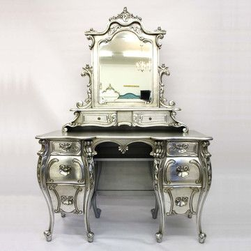 Rococo Dressing Table (silver):