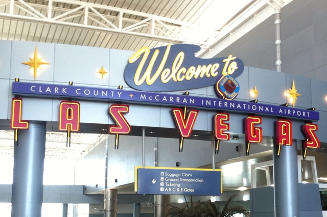 Las Vegas McCarran International Airport ~ the best sight ever when stepping off of an airplane!