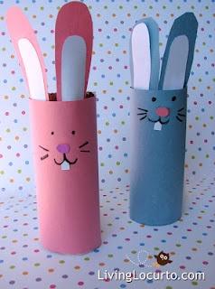 toilet paper roll crafts, bunnies, butterflies, campfires