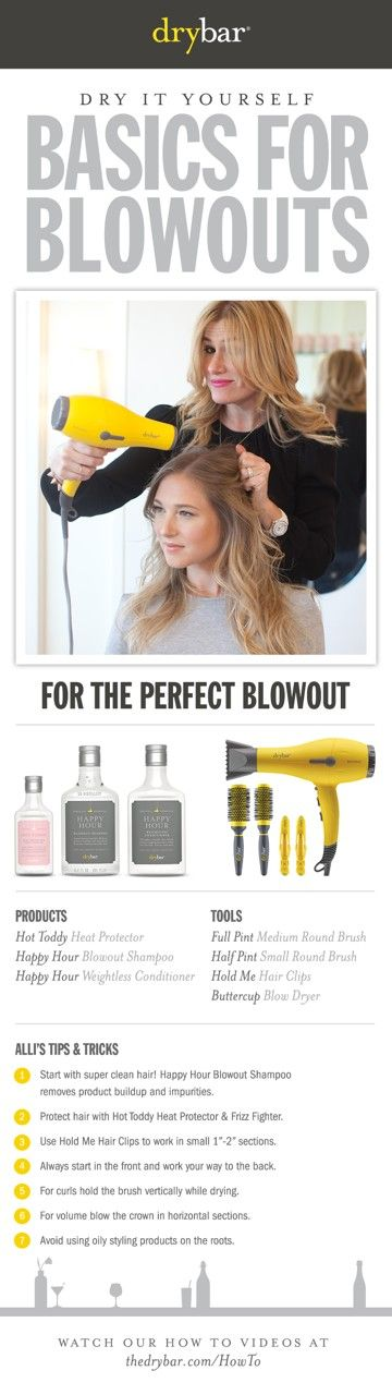 http://shop.thedrybar.com #hair #blowouts #howto #drybar