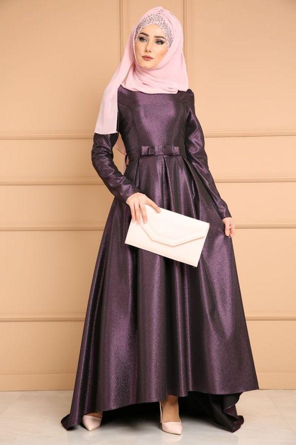 Yeni Urun Eva Simli Tesettur Abiye Murdum Urun Kodu Mhr0526 199 90 Tl Elbise Modelleri Elbise The Dress