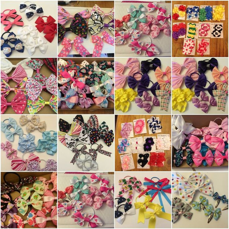 Girls hair bows and hair accessories, hair bobbles, hair clips, low price bows #DreambowsUK