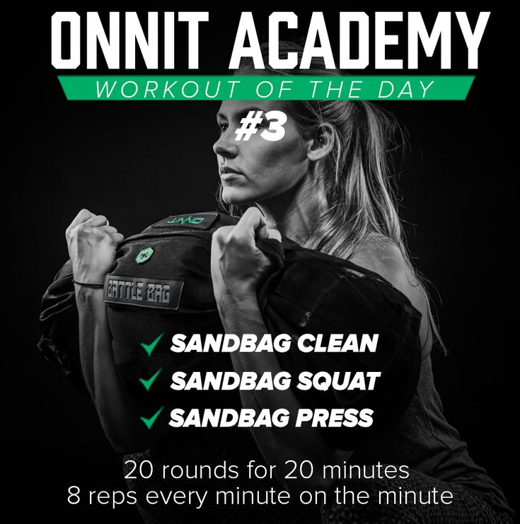 Onnit Academy Workout of The Day #3 - Sandbag Workout