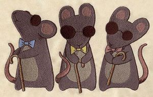 Nursery Rhymes - Three Blind Mice | Urban Threads: Unique and Awesome Embroidery Designs