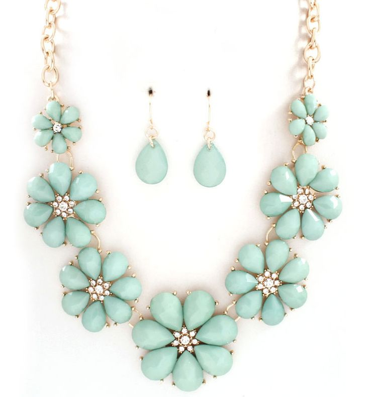 Flora Necklace in Soft Sage on Emma Stine Limited