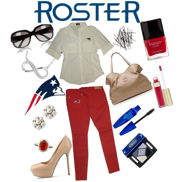 """""""Meesh & Mia football class"""" by rosterstores on Polyvore @Meesh & Mia @New England Patriots"""