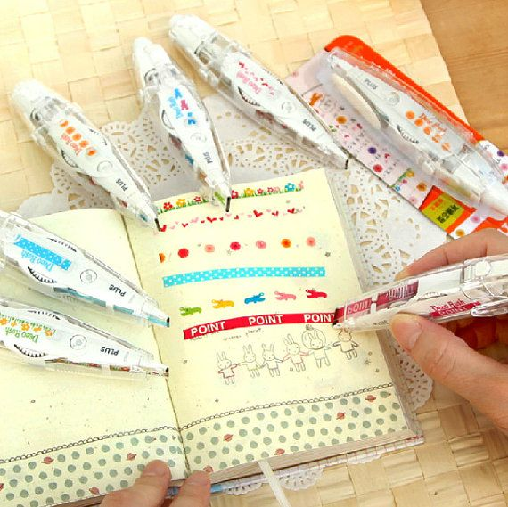 Set of 3 New Japanese Decoration Pen Tape for DIY scrapbook, diary book, photo frame, party, wedding