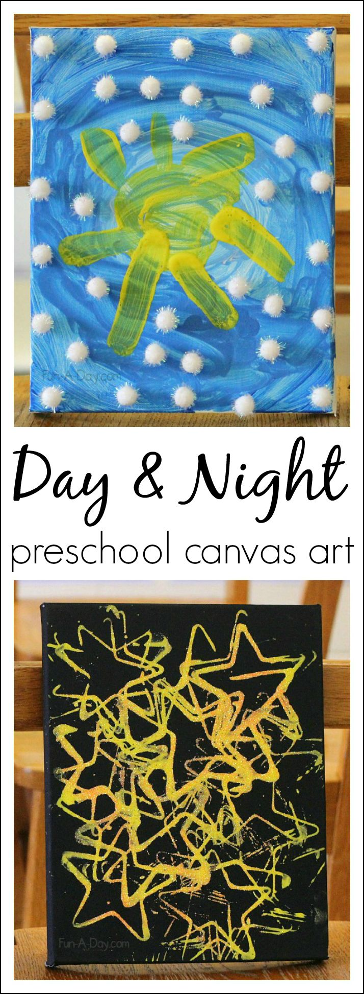 Day and Night Art for Preschoolers