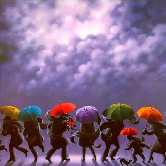 Les fameux parapluies de CLAUDE THEBERGE