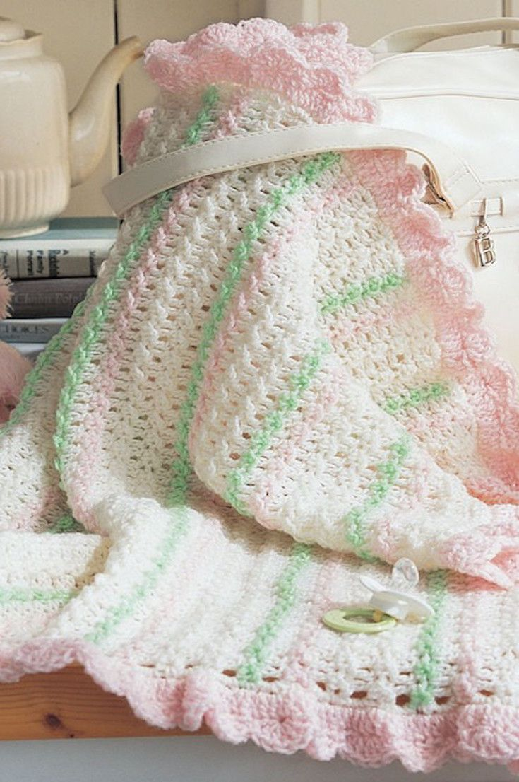 825 mejores imágenes de Baby Blanket Patterns en Pinterest | Afganos ...