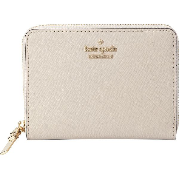kate spade Cameron Street Lainie Zip Around Wallet - Tusk - Women's... (315 PEN) ❤ liked on Polyvore featuring bags, wallets, tan, kate spade wallet, pink bag, tusk wallet, kate spade and pink zip around wallet