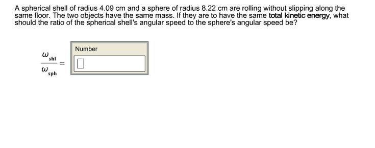 A Spherical Shell Of Radius 4.09 Cm And A Sphere O... | Chegg.com