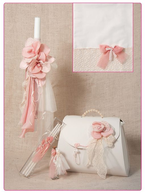 Greek Wedding Shop - Blossom Lace Girl's Christening Set. Christening Sets for your Greek Orthodox Christening ceremony. http://www.greekweddingshop.com/blossom-lace-girls-christening-set/