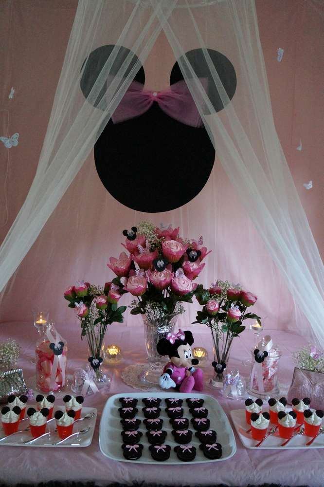 Minnie Mouse, Butterflies, Roses Baby Shower Party Ideas   Photo 4 of 48   Catch My Party