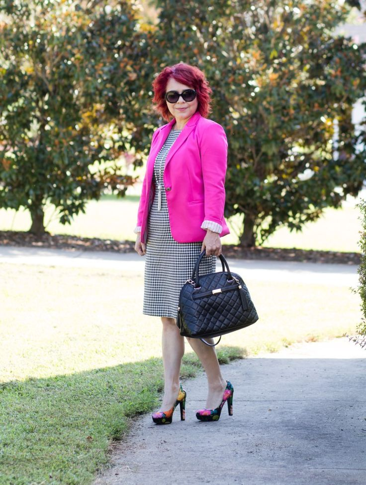 9 to 5 Style in Bright Pink Blazer
