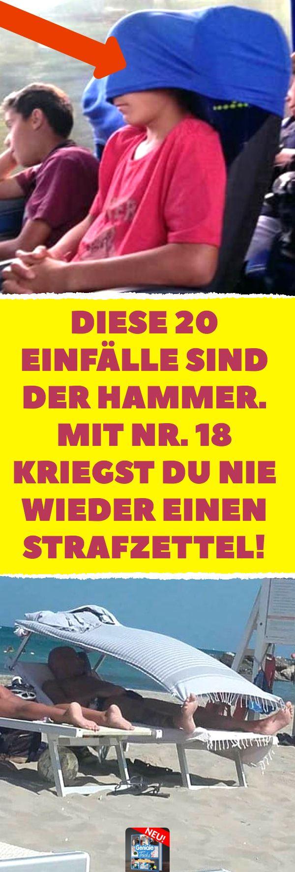 Diese 20 Einfälle sind der Hammer. Mit Nr. 18 kriegst du nie wieder einen Straf…