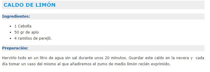 CALDO DEPURATIVO DE LIMON