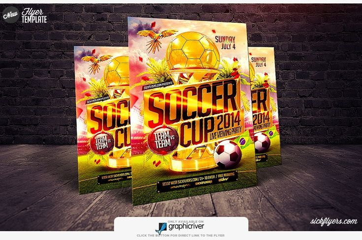 10 best poster images on pinterest posters flyer template and soccer cup flyer template soccer game flyer psd sickflyers toneelgroepblik Choice Image