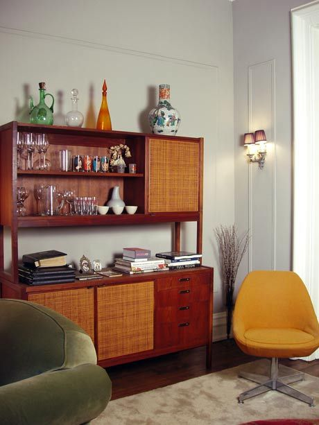 warm mid-century furniture