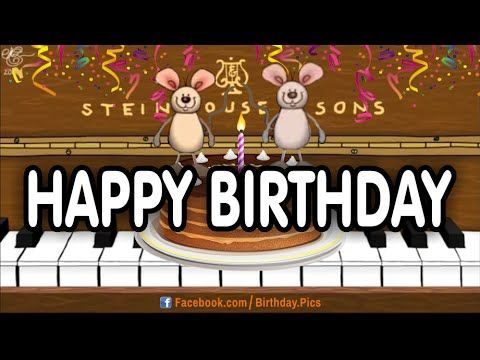 Musical Mice Playing Happy Birthday Song On Piano