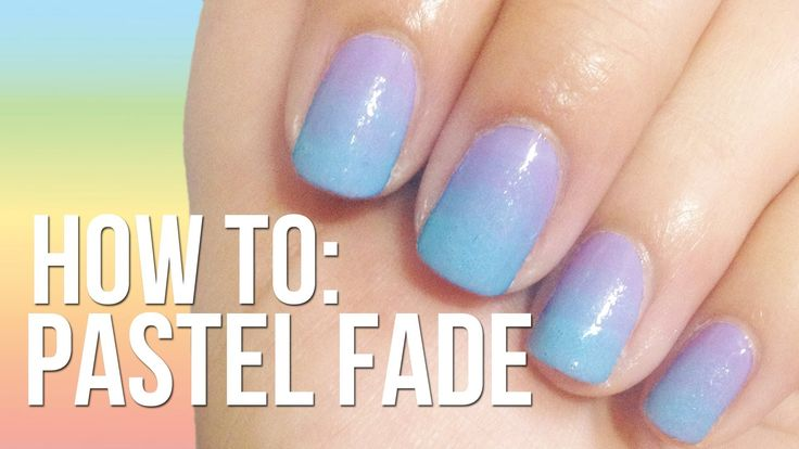 Pastel Fade Nails ♥ NO SPONGE NEEDED