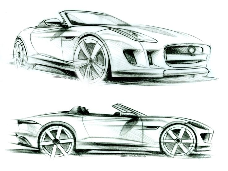 Jaguar F-Type - Pencil Sketches