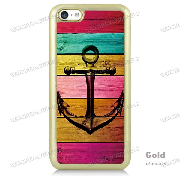 Colorful Anchor Wood Pattern iPhone 5c Case | SW-BOX.com