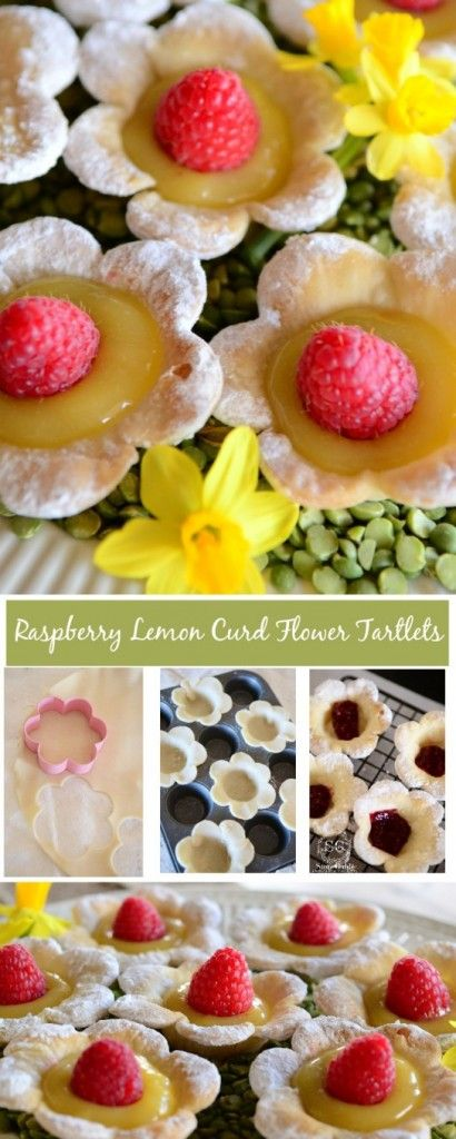 RASPBERRY LEMON CURD TARTLETSeasy to make with store bought items. These taste like spring!
